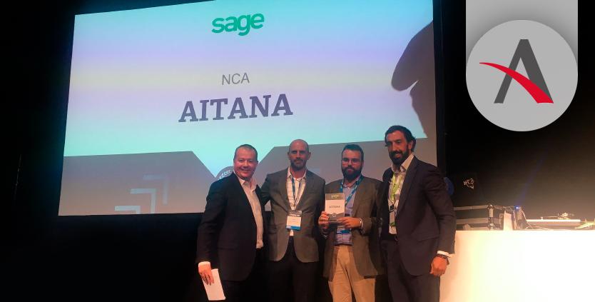 Aitana recibe el premio NCA de Sage
