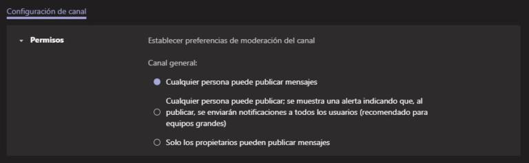 Tips Microsoft-Teams-Administracion de canales generales