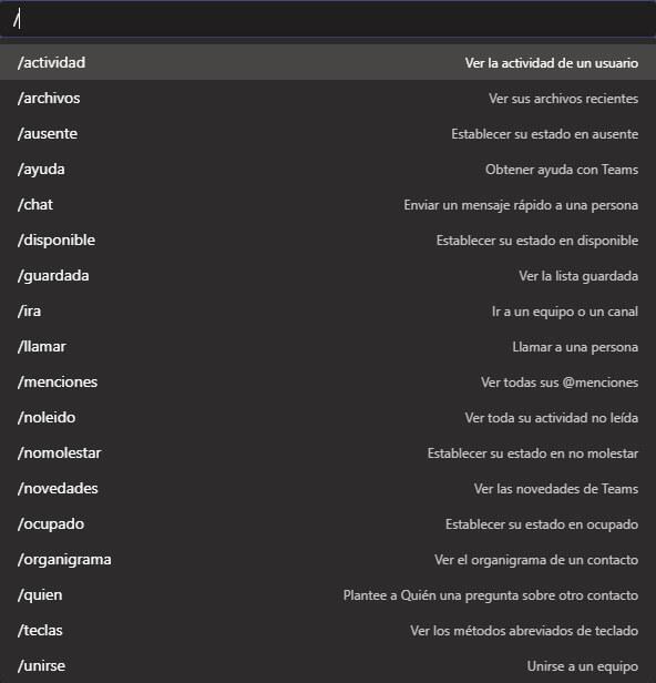 Tips Microsoft-Teams-Menu-busqueda-y-comandos-3