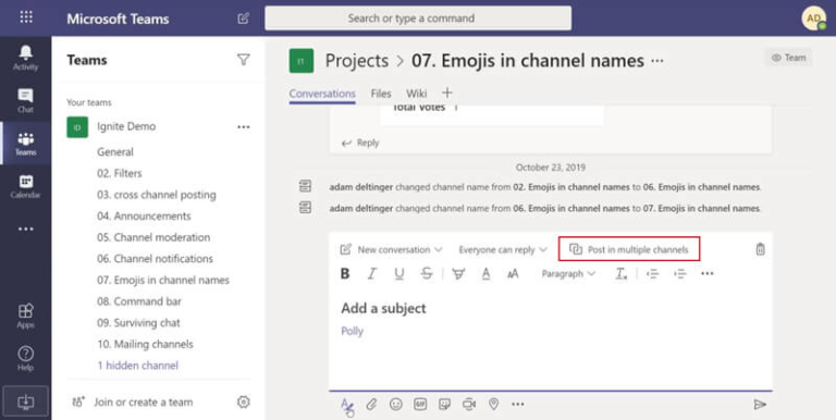 Tips Microsoft-Teams-Posteo-multiple