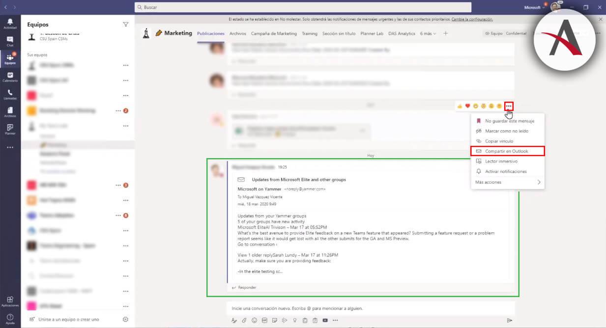 comparte-mensaje-de-teams-en-outlook-tips