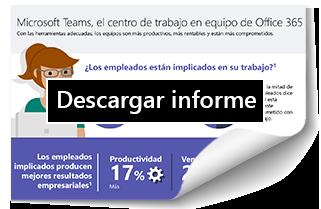 Informe Microsoft Teams, el centro de trabajo en equipo de Office 365