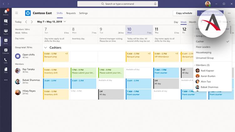 Gestión de turnos de trabajo · Novedades de Microsoft Teams 3º aniversario