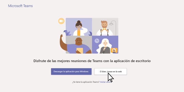 Unirse a una reunión en Microsoft Teams
