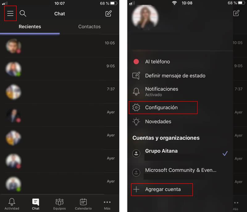 Agregar varias cuentas a Microsoft Teams