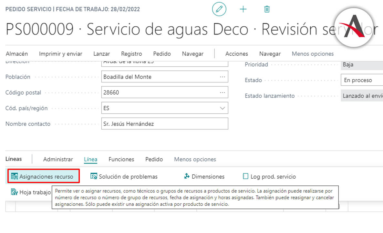 asignar-recurso-pedido-de-servicio-business-central
