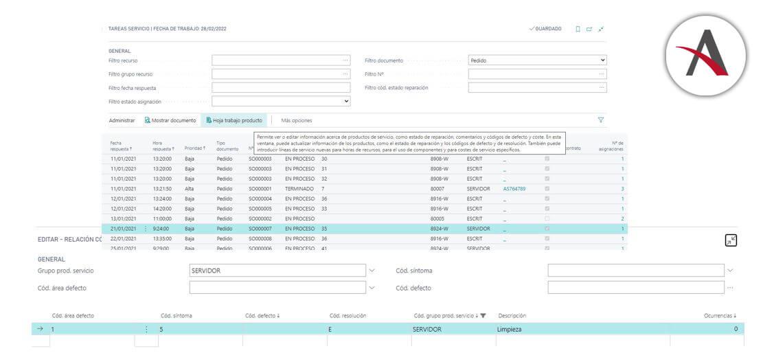 revisar-los-codigos-de-defecto-y-las-resoluciones-business-central