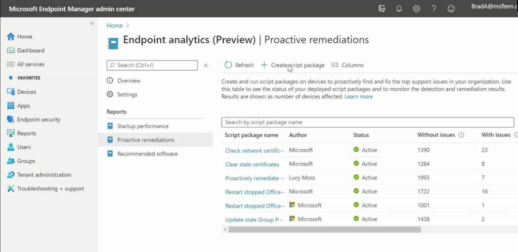 Microsoft Endpoint Manager - Endpoint Analytics 2