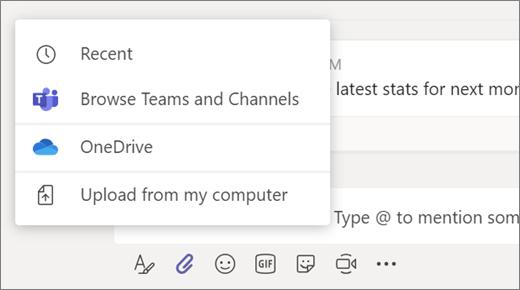 Adjuntar documento en una reunión de Microsoft Teams