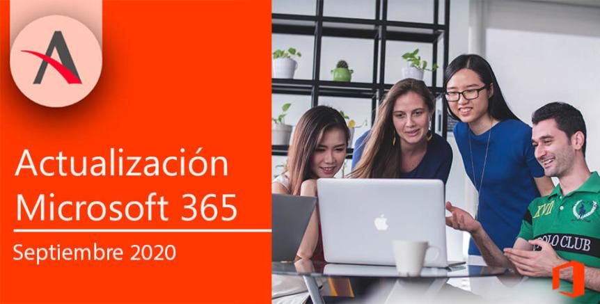 Novedades Microsoft 365 septiembre: Teams, productividad y seguridad
