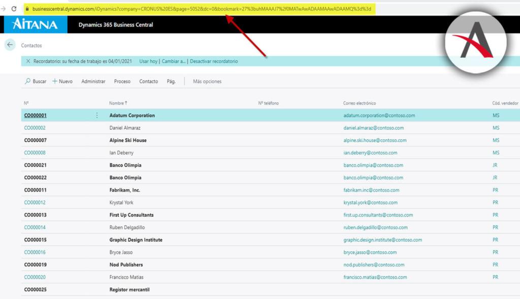 URL-de-la-page-contactos-en-business-central