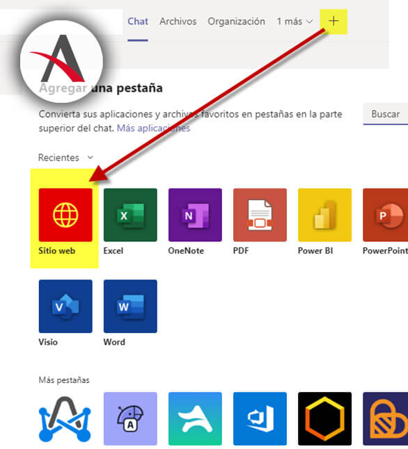 anadir-pestana-sitio-web-en-Microsoft-Teams