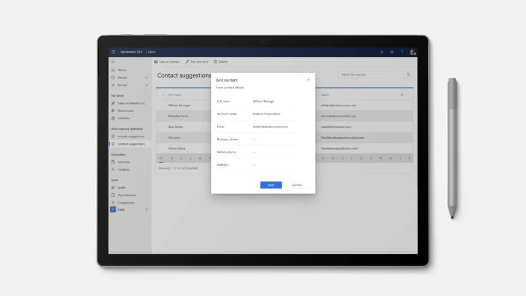 crear contacto desde email dynamics 365 sales