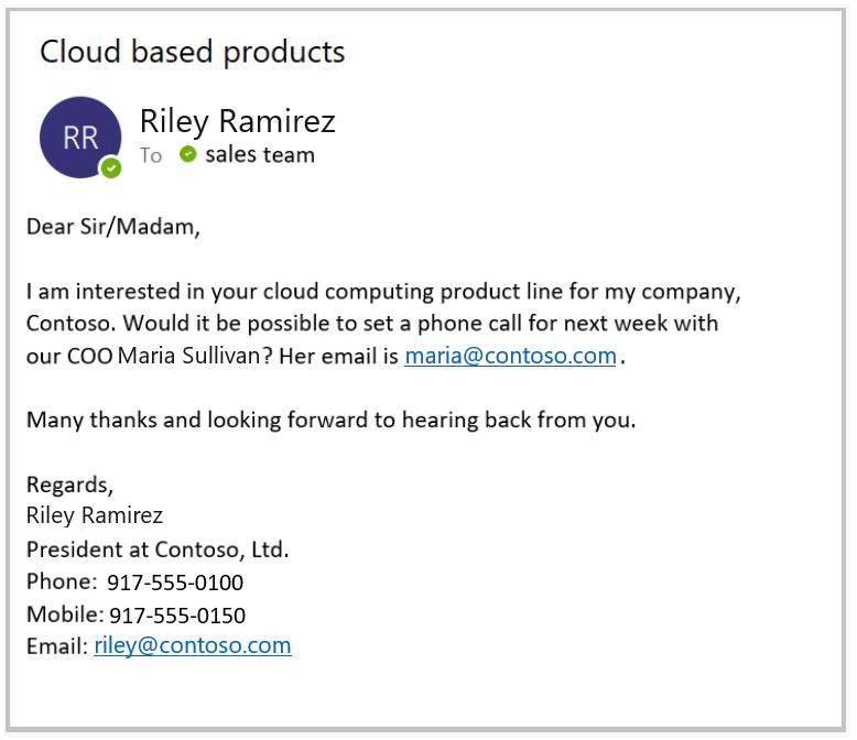 ejemplo email firma dynamics 365 sales